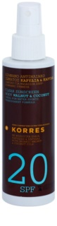 Korres Sun Care Walnut & Coconut nietłusta emulsja do opalania SPF 20