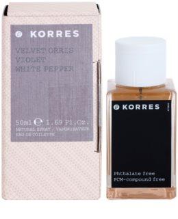 Korres Velvet Orris, Violet & White Pepper eau de toilette da donna