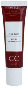 Korres Wild Rose posvetlitvena CC krema SPF 30