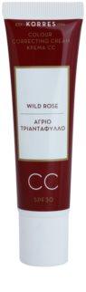 Korres Face Wild Rose aufhellende CC-Creme SPF 30