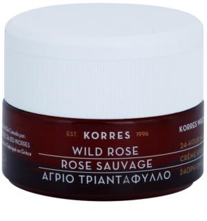 Korres Face Wild Rose posvetlitvena in vlažilna krema za mešano in mastno kožo