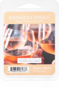 Kringle Candle Rosé All Day cera derretida aromatizante