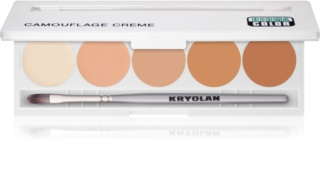 Kryolan Dermacolor Camouflage System High-Coverage Cream Concealer Palette, 5 Shades