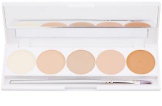 Kryolan Dermacolor Camouflage System High-Coverage Cream Concealer Palette, 5 Shades