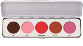 Kryolan Basic Face & Body paleta de coloretes 5 colores