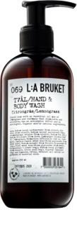 L:A Bruket Body Flüssigseife mit Zitronengras für Hände und Körper