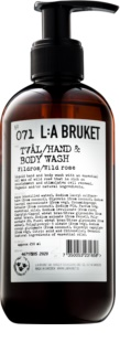 L:A Bruket Body Wild Rose Liquid Soap for Hands and Body