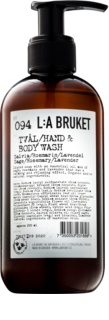 L:A Bruket Body Sage Rosemary Lavender Liquid Soap for Hands and Body