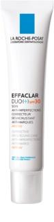 La Roche-Posay Effaclar cuidado de desobstrução corretivo anti-imperfeições e anti-marcas SPF 30
