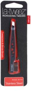 La-Tweez Professional Tweezers пінцет зі щіточкою