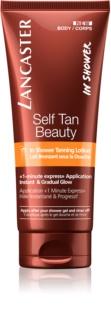Lancaster Self Tan Beauty önbarnító testápoló tej zuhanyba a fokozatos barnulásért