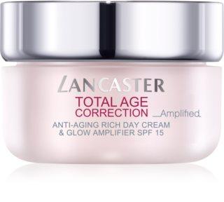 Lancaster Total Age Correction _Amplified подхранващ крем против бръчки за озаряване на лицето