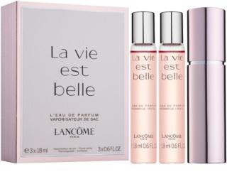 Lancôme La Vie Est Belle Eau de Parfum für Damen 3 x 18 ml (1x Nachfüllbar + 2x Nachfüllung)