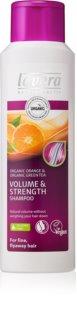 Lavera Volume & Strength champú para un volumen máximo