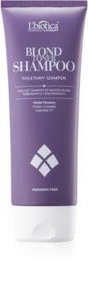 L'biotica Professional Therapy lila tonizáló sampon szőke hajra