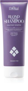 L'biotica Professional Therapy Blond champú violeta matificante para cabello rubio