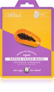 L'biotica Vegan Organic Papaya čistilna maska za obraz