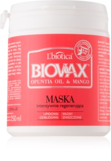 L'biotica Biovax Opuntia Oil & Mango regenerační maska pro poškozené vlasy