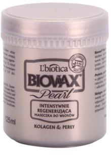 L'biotica Biovax Glamour Pearl Regenerierende Maske spendet Feuchtigkeit und Glanz