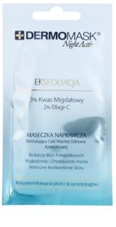 L'biotica DermoMask Night Active máscara esfoliante para pele desgastada
