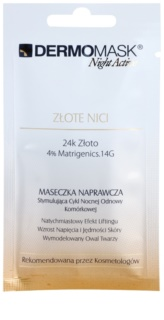 L'biotica DermoMask Night Active mascarilla reafirmante con efecto lifting con oro de 24 quilates