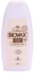 L'biotica Biovax Natural Oil szampon regenerujący nawilżające i nadające blask