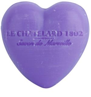 Le Chatelard 1802 Lavender savon en forme de cœur