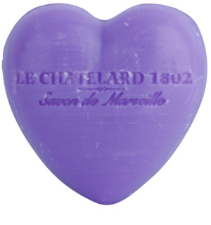 Le Chatelard 1802 Lavender szappan szív alakú