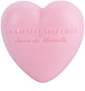 Le Chatelard 1802 Rose & Peony mydło w kształcie serca