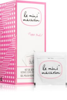 Le Mini Macaron Gel Polish Remover Pads toalhetes para remover o verniz de gel