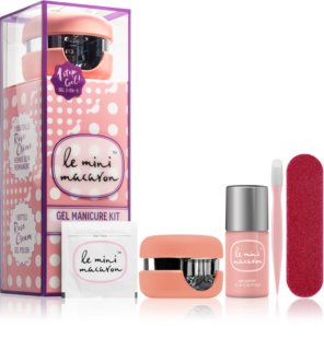 Le Mini Macaron Gel Manicure Kit Rose Creme козметичен пакет  VI. (за нокти)