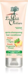 Le Petit Olivier Peach & Grapevine Flower condicionador para cabelo normal
