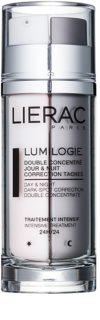 Lierac Lumilogie Två-fasigt upplysande koncentrat för dag och natt för korrigering av pigmentfläckar