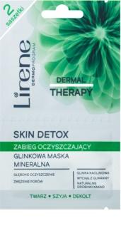 Lirene Dermal Therapy Skin Detox minerální čisticí jílová maska pro mastnou a smíšenou pleť