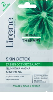 Lirene Dermal Therapy Skin Detox Cleansing Mineral Clay Mask for Oily and Combination Skin
