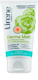 Lirene Derma Matt Normalising Gel Cleanser with Exfoliating Effect