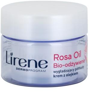 Lirene Essential Oils Rose crema nutritiva con efecto alisante para pieles maduras