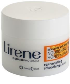 Lirene Moisture & Nourishment verjüngende und straffende Creme mit Honig und Zitrone