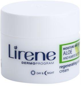 Lirene Moisture & Nourishment регенериращ лифтинг крем с алое вера и масло от шеа
