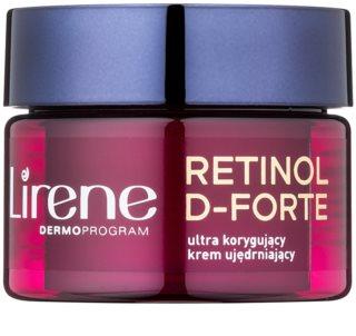Lirene Retinol D-Forte 50+ συσφικτική κρέμα νύχτας με αναγεννητική επίδραση για διόρθωση των ρυτίδων
