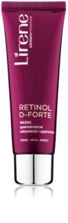Lirene Retinol D-Forte Verstevigende en Voedende Masker  voor Gezicht, Hals en Decolleté
