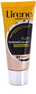 Lirene Vitamin C bőrvilágosító make-up fluid a hosszan tartó hatásért