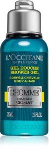 L'Occitane L´Homme Cologne Cedrat gel za prhanje za telo in lase za moške 75 ml