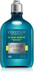 L'Occitane L´Homme Cologne Cedrat sprchový gél na telo a vlasy pre mužov 250 ml