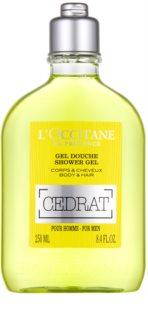 L'Occitane Cedrat душ гел за тяло и коса
