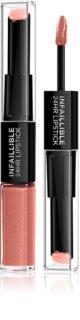 L'Oréal Paris Infallible Langaanhoudende lippenstift en lipgloss 2 in 1