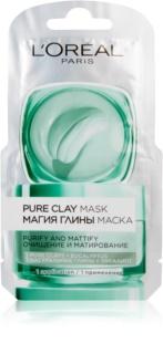 L'Oréal Paris Pure Clay spumă de curățare cu efect matifiant