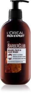 L'Oréal Paris Barber Club čisticí gel na vousy, tvář a vlasy
