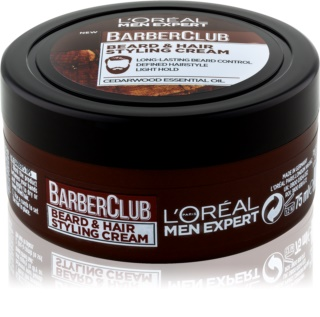L'Oréal Paris Barber Club crema de styling para barba y cabello