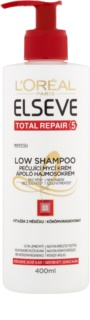 L'Oréal Paris Elseve Total Repair 5 Low Shampoo negovalna krema za umivanje  za suhe in poškodovane lase